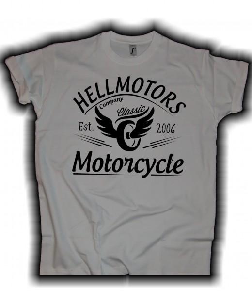 Herren Biker T-Shirt Flying Wheels