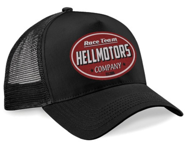 """HELLMOTORS Trucker CAP """"Hellmotors Logo Rot"""""""