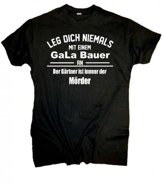 """Herren Fun T-Shirt """"GaLa Bau - schwarz"""
