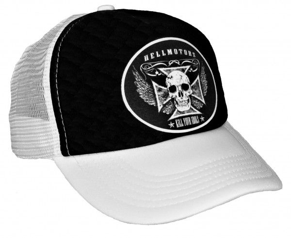 "HELLMOTORS TRUCKER CAP ""Kill Your Idols"" weiß/schwarz"