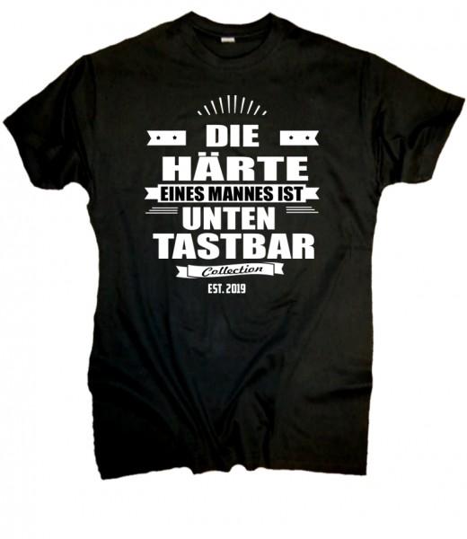 Herren Fun T-Shirt- Männer Härte - schwarz