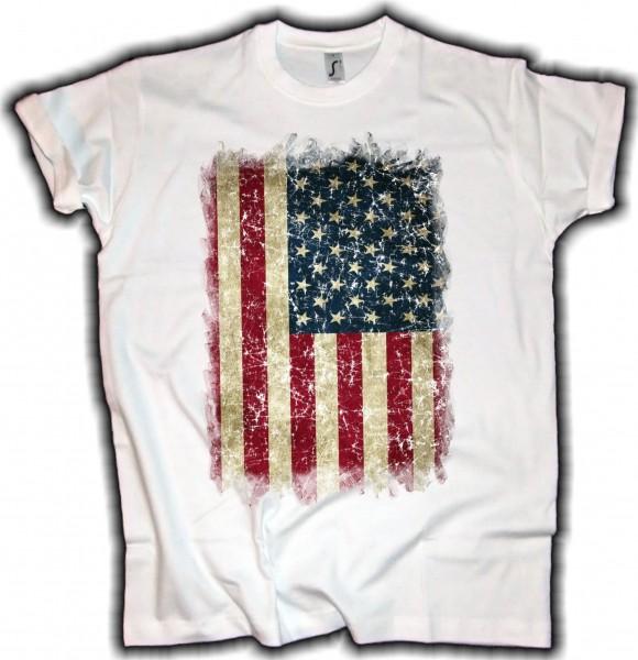 Herren T-Shirt USA Flagge