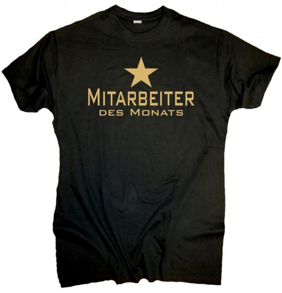 """Herren Fun T-Shirt """"Mitarbeiter des Monats"""""""