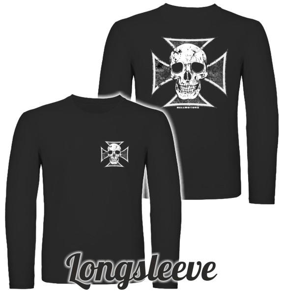 Herren Longsleeve Skull Cross