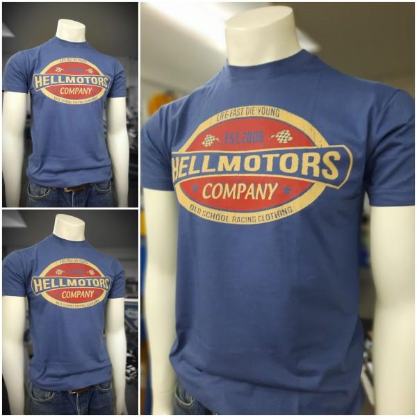 Herren Old School T-Shirt Life Fast Vintage Denim