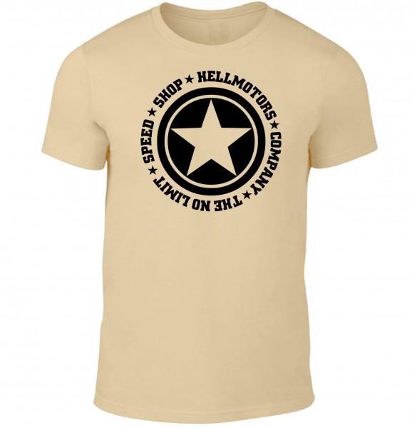 """Herren T-Shirt """"Speed Limit"""" Sand"""