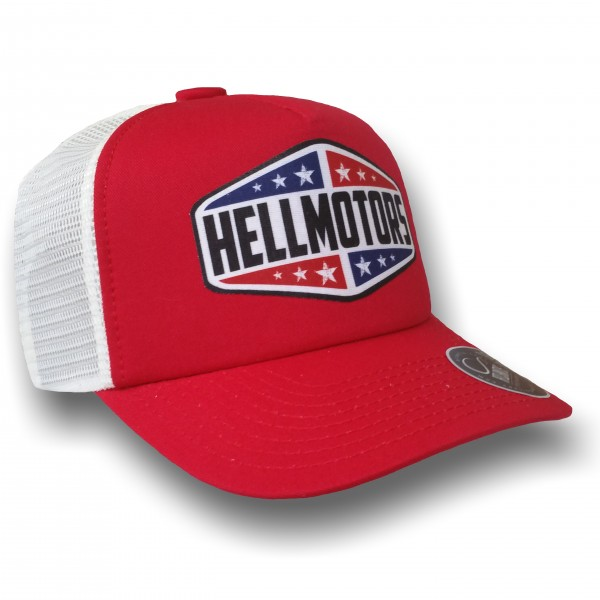 "HELLMOTORS TRUCKER CAP Texas"" Rot Record"