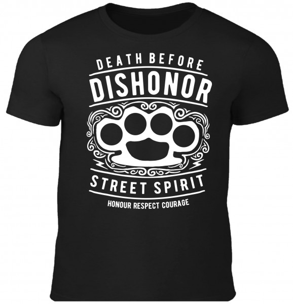 Herren T-Shirt Death before Dishonor