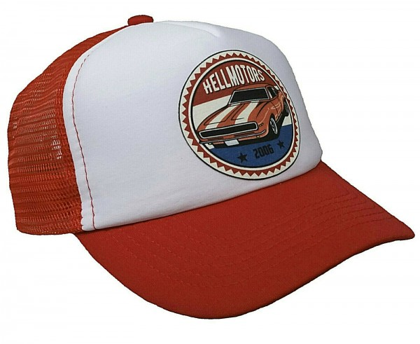 "HELLMOTORS KINDER CAP ""Chevy"" Rot/weiss"