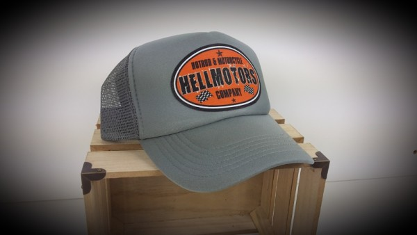 "HELLMOTORS TRUCKER CAP ""HotRod & Motorcycle"" Grau"