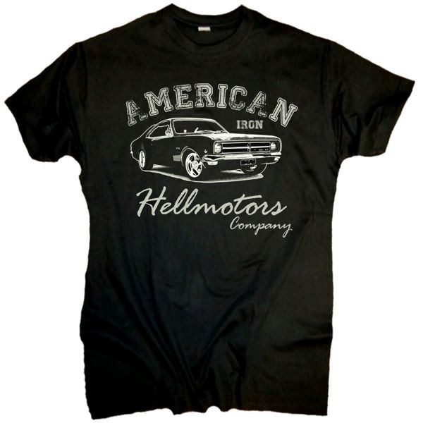 "Herren T-Shirt US Car Style ""American Iron"""