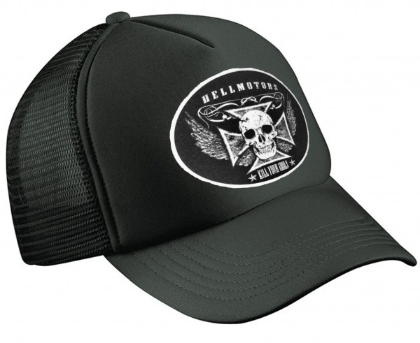 "HELLMOTORS TRUCKER CAP ""Kill Your Idols"" schwarz"