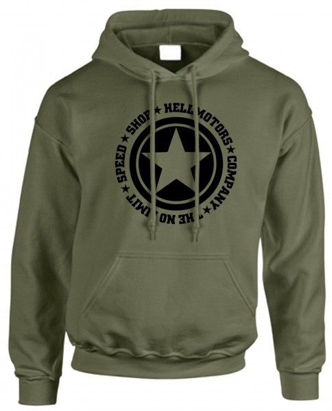 "Herren Kapuzenpulli ""Speed Limit"" Oliv"
