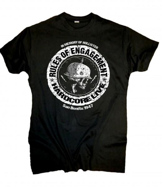 Herren Biker T-Shirt Rules of Engagement nur vorn