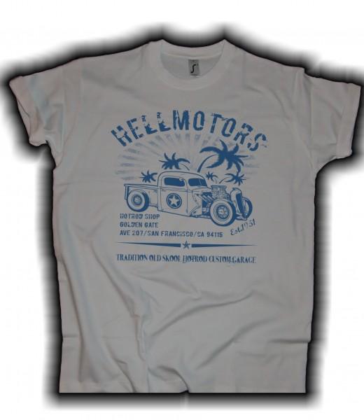 Herren T-Shirt Tiki hellgrau