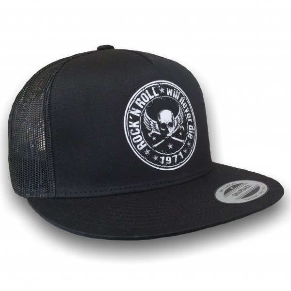 "HELLMOTORS SNAPBACK CAP ""Rock n Roll"" Schwarz"