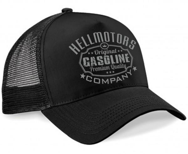"""HELLMOTORS Trucker CAP """"Gasoline"""" Schwarz"""