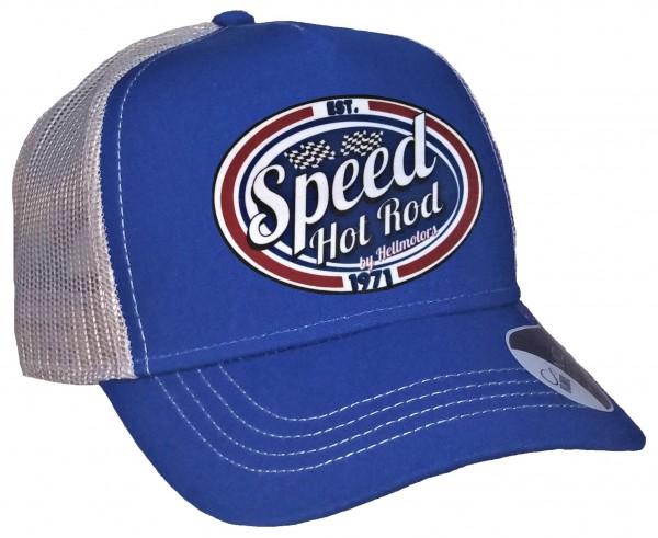 Trucker Cap - Speed Hotrod - Canvas Royalblau/Hellgrau