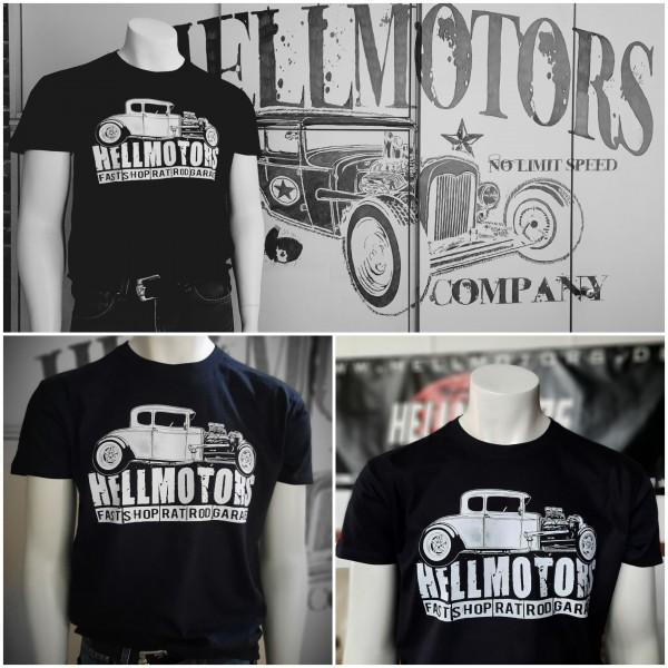 Herren Hot Rod T-Shirt Fast Shop schwarz
