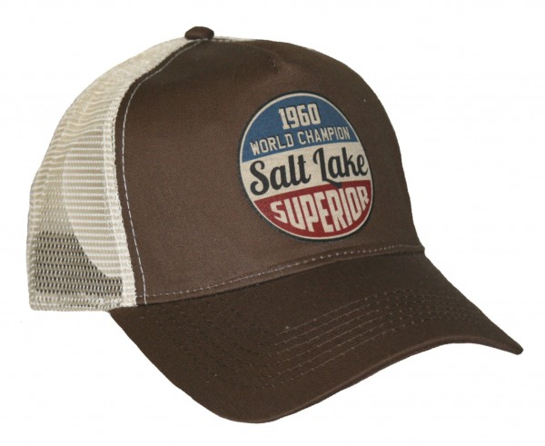 "HELLMOTORS Trucker CAP ""Salt Lake"" Chocolate"