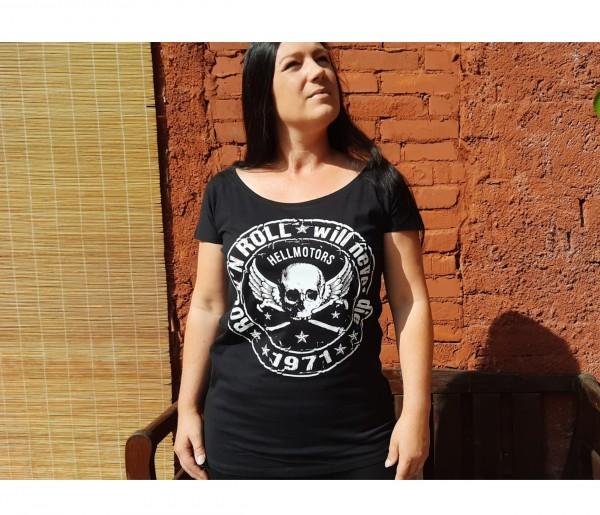 Girly T-Shirt Rock N Roll schwarz
