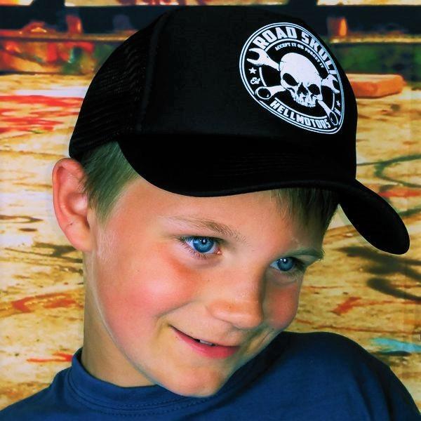 "HELLMOTORS KINDER CAP ""Road Skull""-schwarz"
