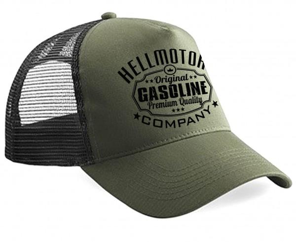 "HELLMOTORS Trucker CAP ""Gasoline"" Oliv/Schwarz"