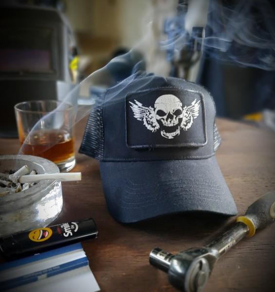 Trucker Cap Skull Face Hellmotors schwarz