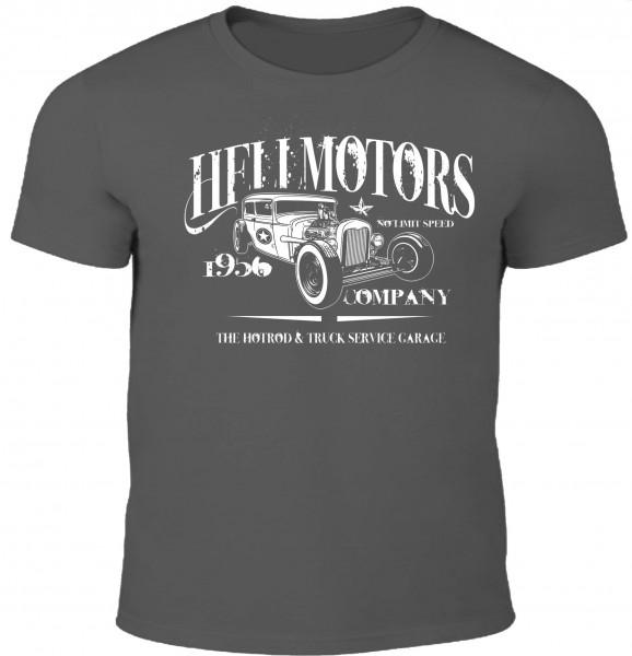 Herren Hot Rod T-Shirt 1956 in Grau