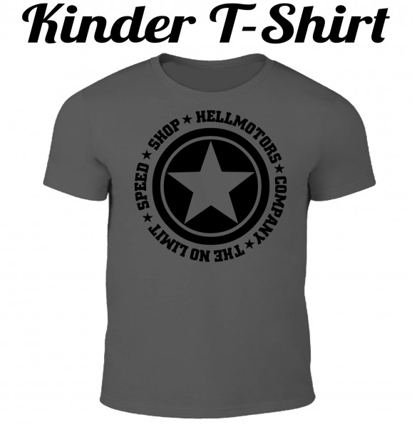 Kinder T-Shirt Speed Limit in grau/schwarz