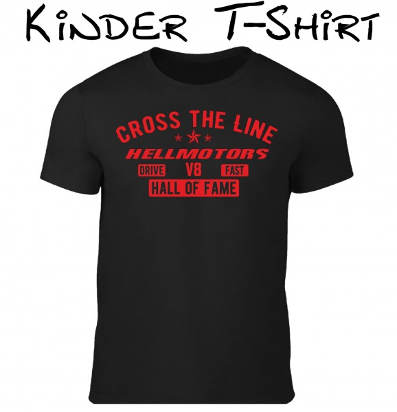 Kinder T-Shirt Cross the Line schwarz