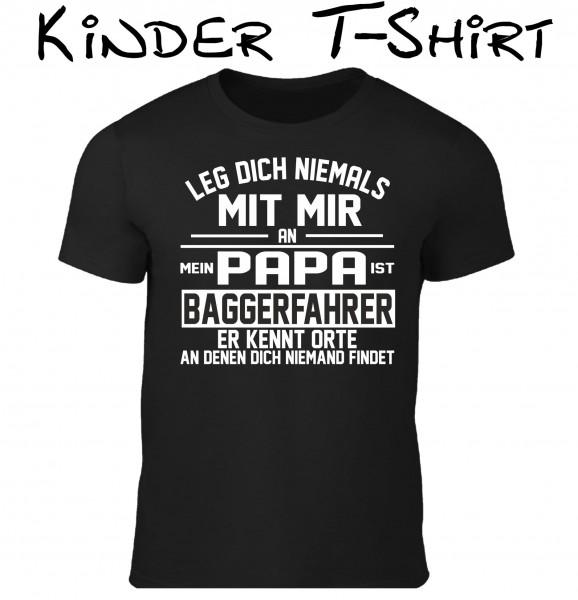 "Kinder T-Shirt ""Papa ist Baggerfahrer"""