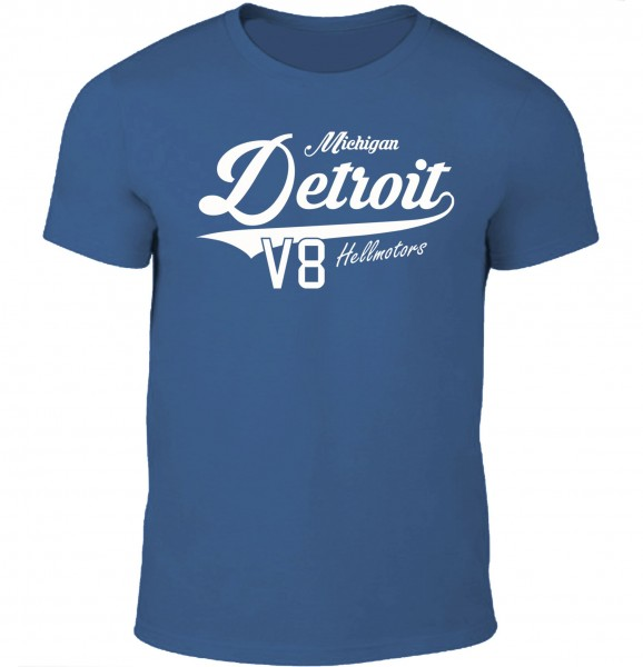 Herren T-Shirt Detroit Michigan Denim Blau