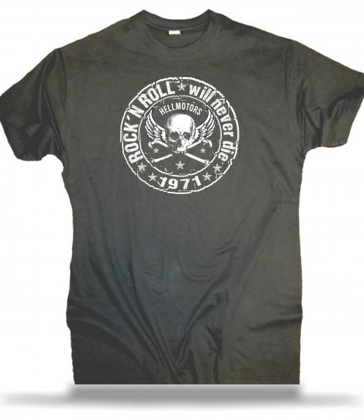 Herren T-Shirt Rock N Roll grau