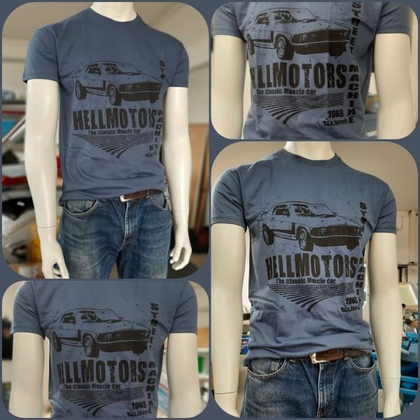 Herren V8 T-Shirt Mustang Street Machine