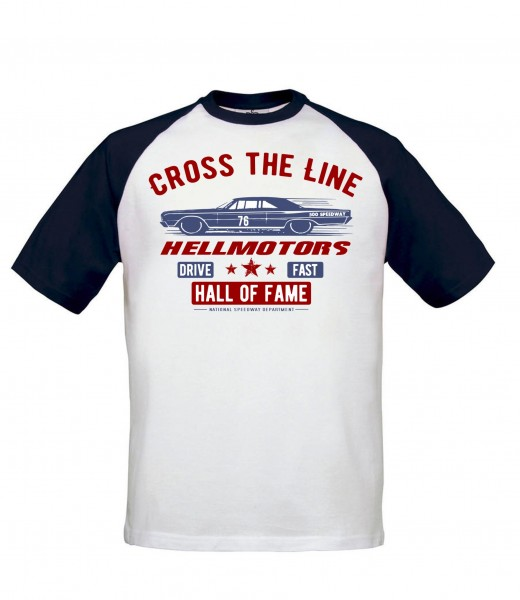 "Herren US Car Baseball T-Shirt ""Cross The Line"""