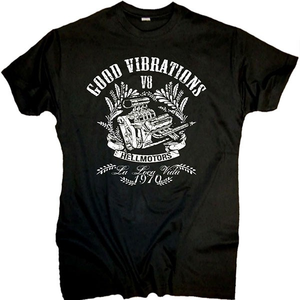 """Herren T-Shirt OLDSCHOOL Style """"BIG BLOCK"""" schwarz"""