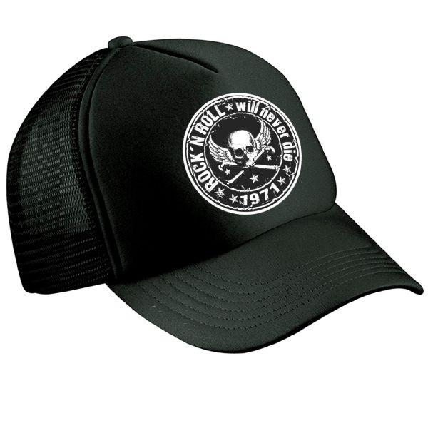 """HELLMOTORS CAP """"Rock n Roll""""schwarz"""