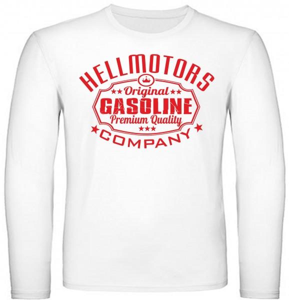 Herren Longsleeve Gasoline White Edition