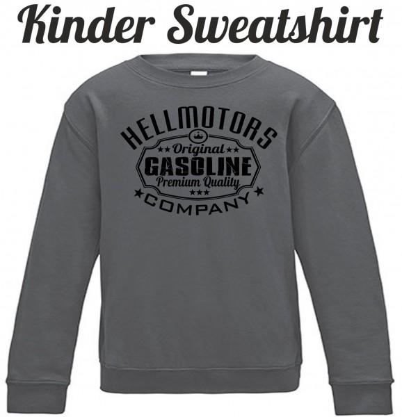 Kinder Sweatshirt Gasoline in grau/schwarz