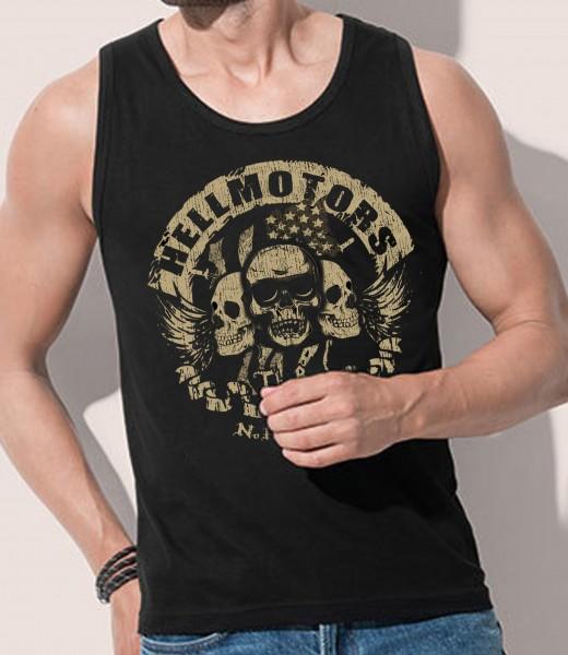 Herren Biker Tank Top The Skull Bone