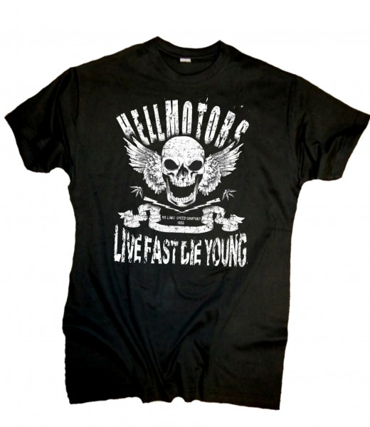 "Herren Biker T-Shirt ""Live Fast"""