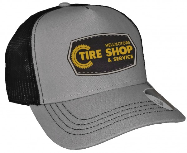 Trucker Cap - Tire Shop - Canvas Grau/Schwarz