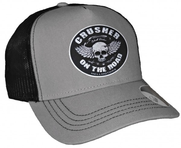 Trucker Cap - Crusher on the Road - Canvas Grau/Schwarz