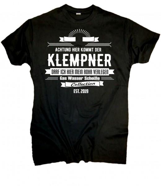 """Herren Fun T-Shirt """"Klempner"""""""