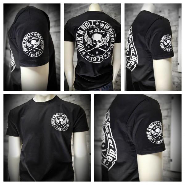 Herren T-Shirt Rock n Roll Hellmotors beidseitig