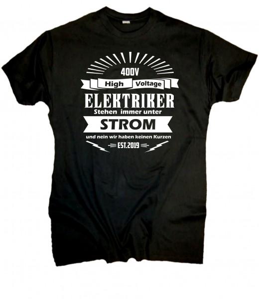 "Herren Fun T-Shirt ""Elektriker"""