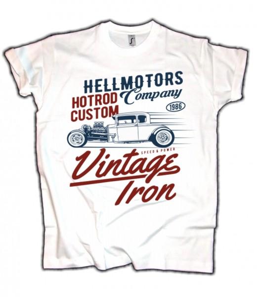 Herren T-Shirt Vintage Iron HotRod