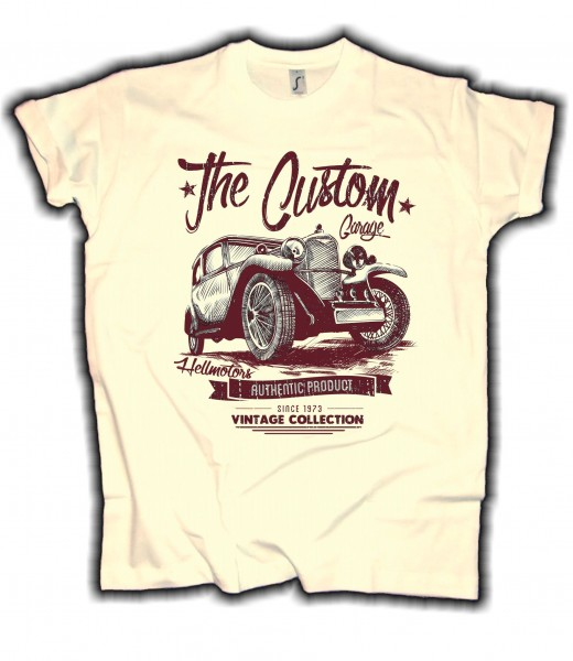 "Herren T-Shirt Oldtimer ""The Custom Garage"""