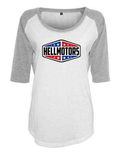 "Frauen Baseball T-Shirt ""HELLMOTORS TEXAS"""